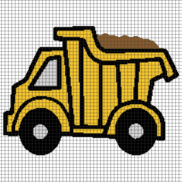 Toy Truck – (Chart/Graph AND Row-by-Row Written Instructions) – 01