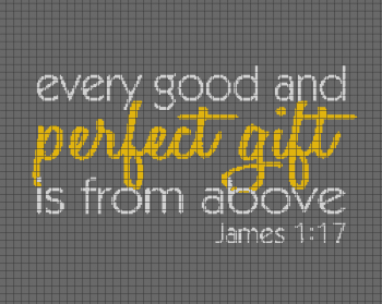 Bible Verse (Perfect Love) - Crochet Graphghan Pattern