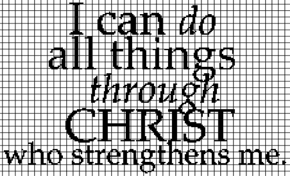 Bible Verse (Do All Things) – (Chart/Graph AND Row-by-Row Written Instructions)