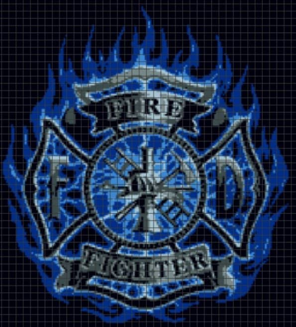 Firefighter – (Chart/Graph AND Row-by-Row Written Instructions)