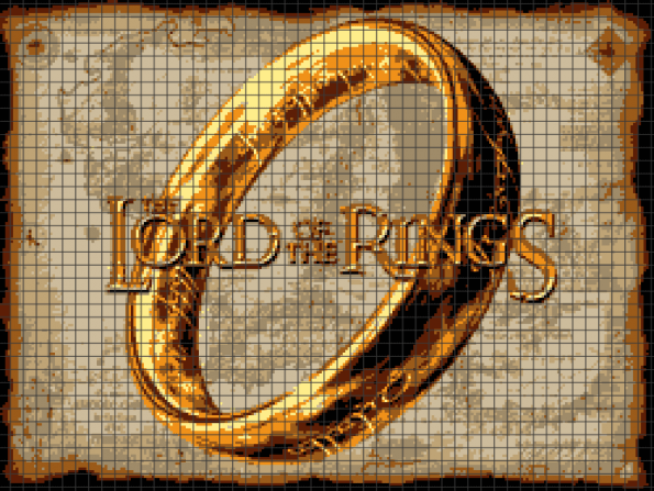 Lord of the Rings (Chart/Graph AND Row-by-Row Written Instructions)