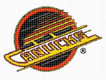 Vancouver Canucks Crochet Graphghan Pattern