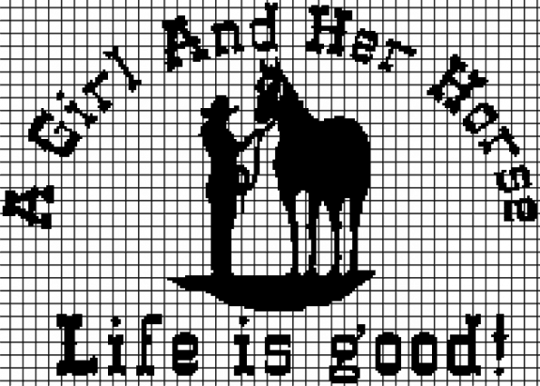 A Girl and Her Horse – (Chart/Graph AND Row-by-Row Written Instructions)