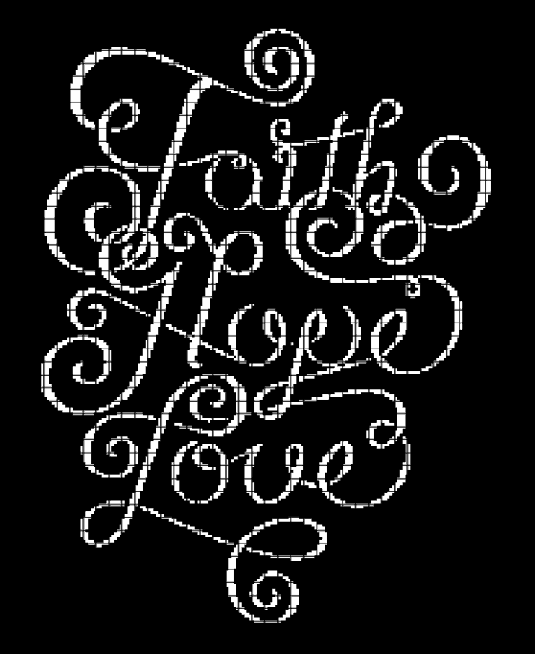 Faith Hope Love – (Chart/Graph AND Row-by-Row Written Instructions)