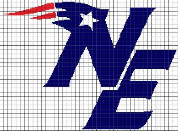 New England Patriots – (Chart/Graph AND Row-by-Row Written Instructions) – 03