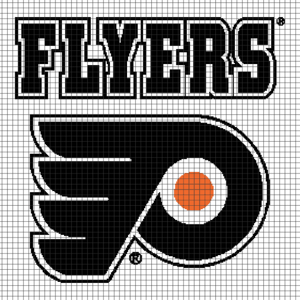 Philadelphia Flyers (281 x 281) – (Chart/Graph AND Row-by-Row Written Instructions)