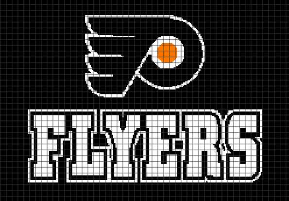 Philadelphia Flyers (248 x 173) – (Chart/Graph AND Row-by-Row Written Instructions)