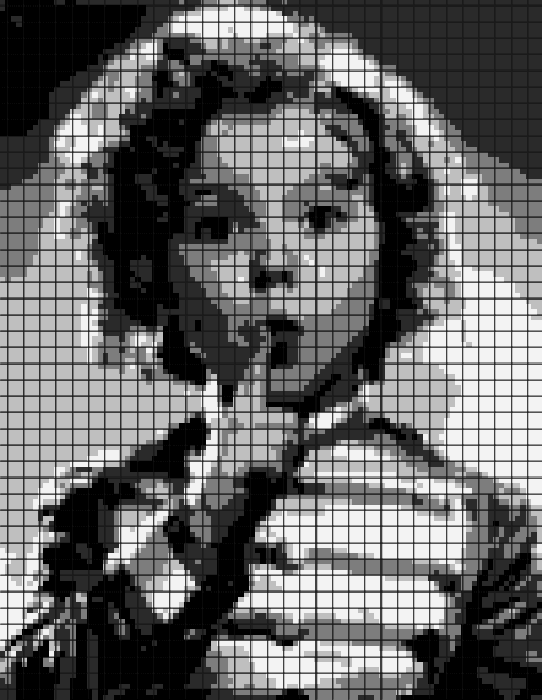 Shirley Temple – (Chart/Graph AND Row-by-Row Written Instructions) – 02