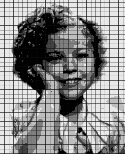 Shirley Temple – (Chart/Graph AND Row-by-Row Written Instructions) – 03