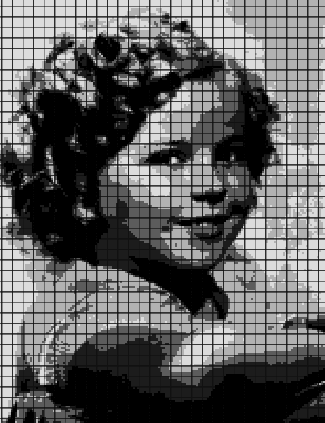 Shirley Temple – (Chart/Graph AND Row-by-Row Written Instructions)