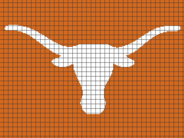 Texas Longhorns (Chart/Graph AND Row-by-Row Written Instructions)
