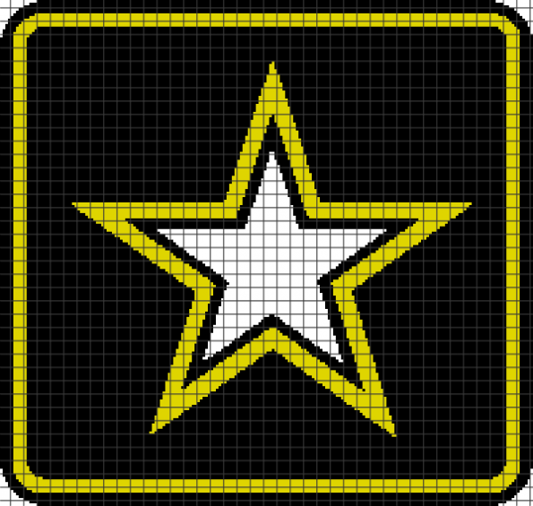 Army (Chart/Graph AND Row-by-Row Written Instructions) – 01