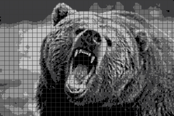 Bear (Chart/Graph AND Row-by-Row Written Instructions) – 01