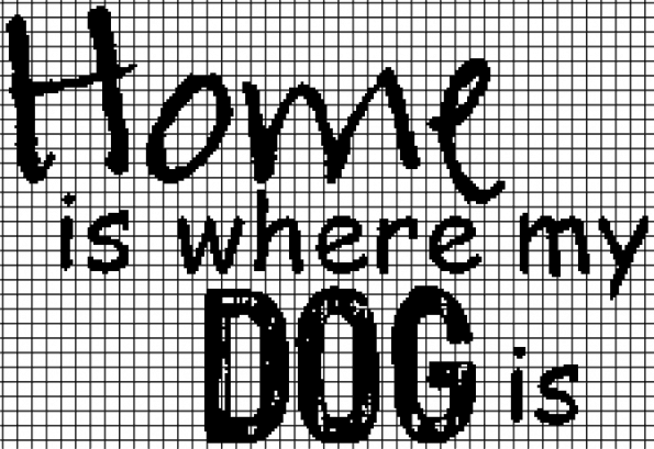 Home Is Where My DOG Is (Chart/Graph AND Row-by-Row Written Instructions) – 01
