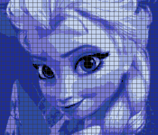 Frozen – Elsa (Chart/Graph AND Row-by-Row Written Instructions) – 01
