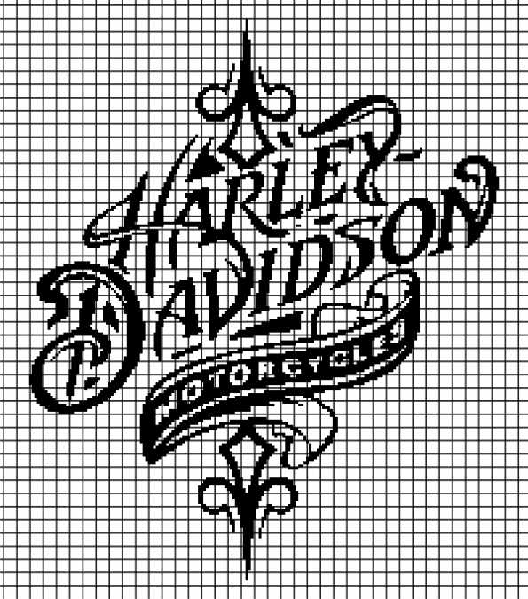 Harley Davidson (Chart/Graph AND Row-by-Row Written Instructions) – 05