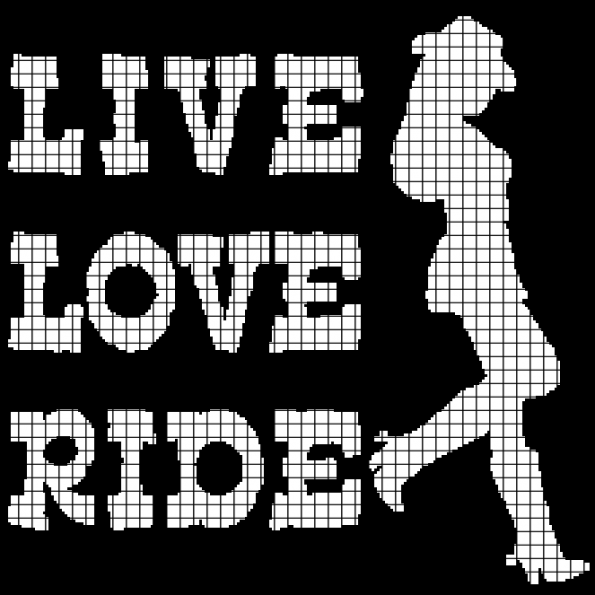 Live, Love, Ride (Chart/Graph AND Row-by-Row Written Instructions)