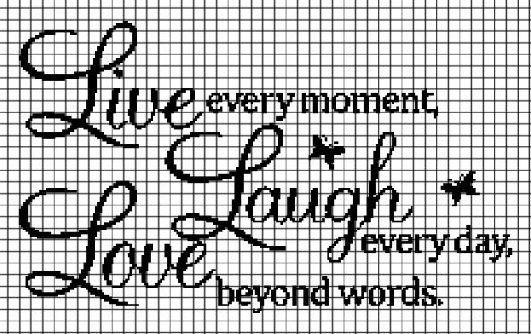 Live, Laugh, Love (Chart/Graph AND Row-by-Row Written Instructions) – 02