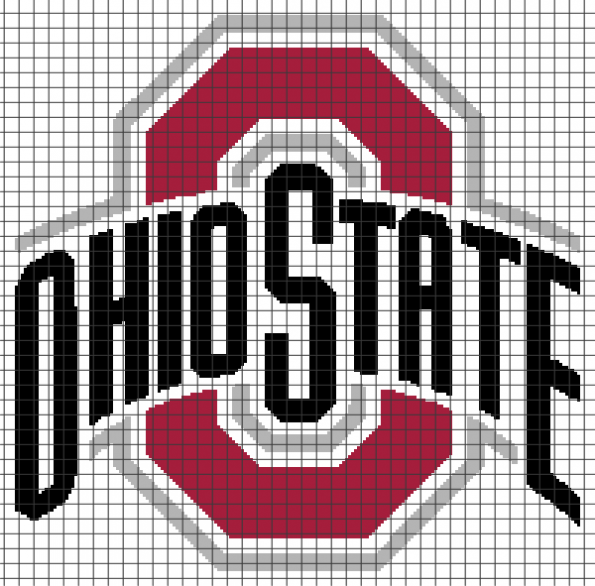 Ohio State Buckeyes (Chart/Graph AND Row-by-Row Written Instructions) – 01