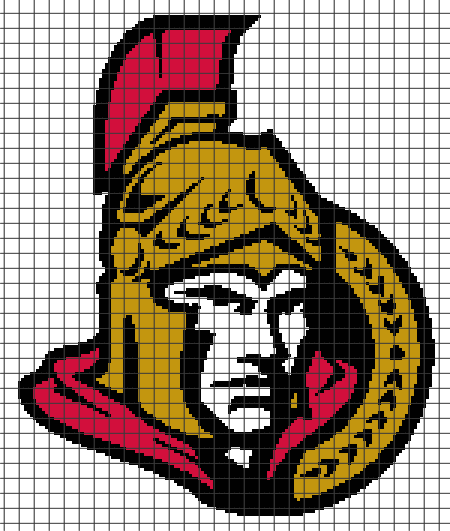Ottawa Senators (Chart/Graph AND Row-by-Row Written Instructions) – 2