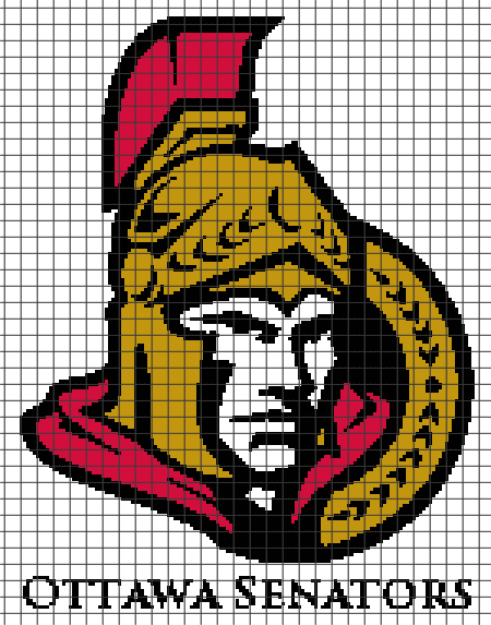Ottawa Senators (Chart/Graph AND Row-by-Row Written Instructions)