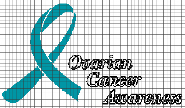 Ovarian Cancer Awareness (Chart/Graph AND Row-by-Row Written Instructions)