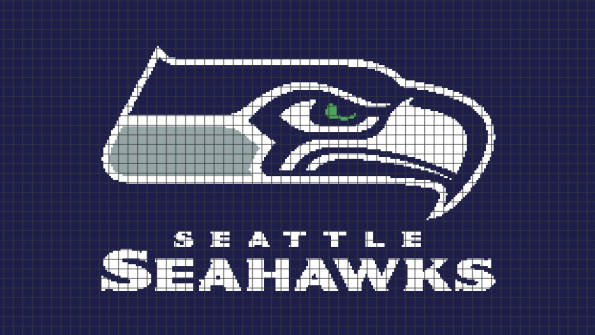 Seattle Seahawks (Chart/Graph AND Row-by-Row Written Instructions) – 04