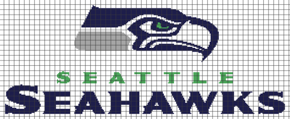 Seattle Seahawks (Chart/Graph AND Row-by-Row Written Instructions) – 05