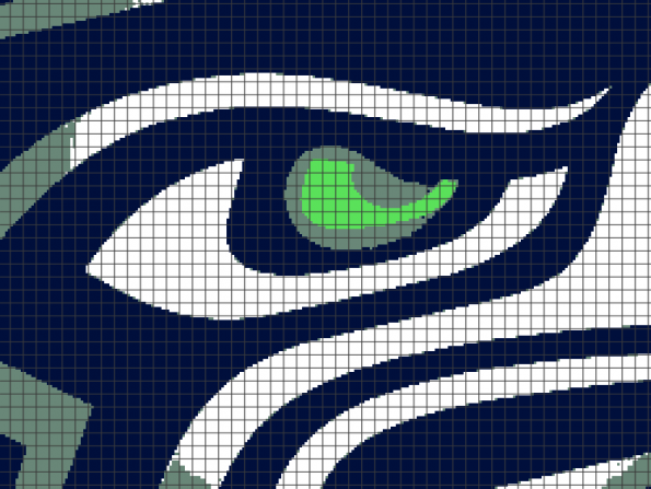 Seattle Seahawks (Chart/Graph AND Row-by-Row Written Instructions)