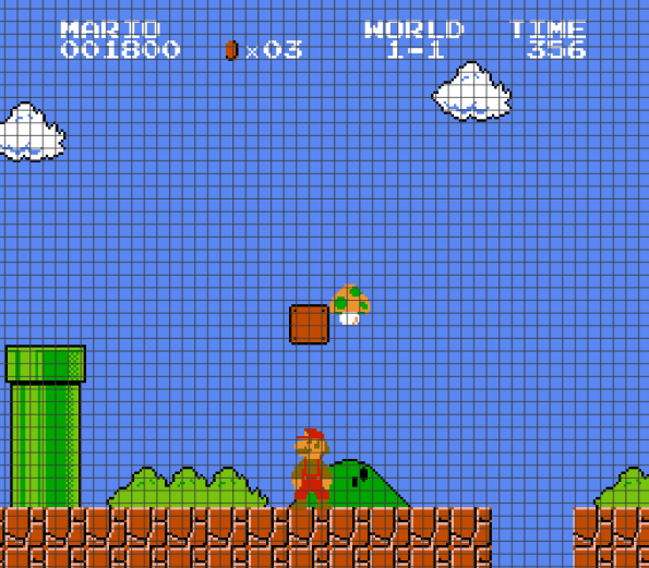 Super Mario (Chart/Graph AND Row-by-Row Written Instructions) – 03