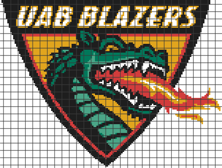 UAB Blazers (Chart/Graph AND Row-by-Row Written Instructions) – 01