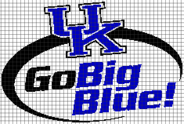 University of Kentucky – Go Big Blue! (Chart/Graph AND Row-by-Row Written Instructions) – 01