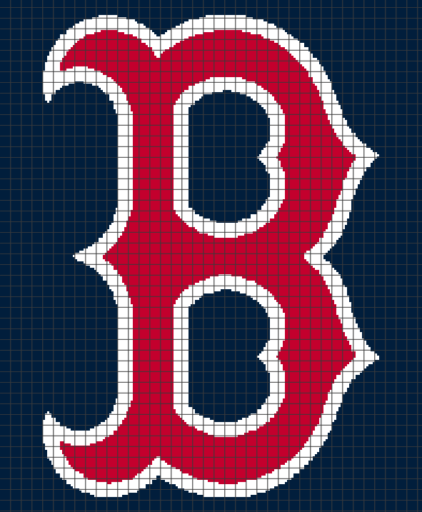 Boston Red Sox (Chart/Graph AND Row-by-Row Written Crochet Instructions) – 01