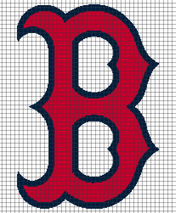 Boston Red Sox (Chart/Graph AND Row-by-Row Written Crochet Instructions) – 03