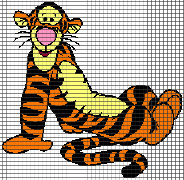 Tigger (Chart/Graph AND Row-by-Row Written Crochet Instructions) – 02