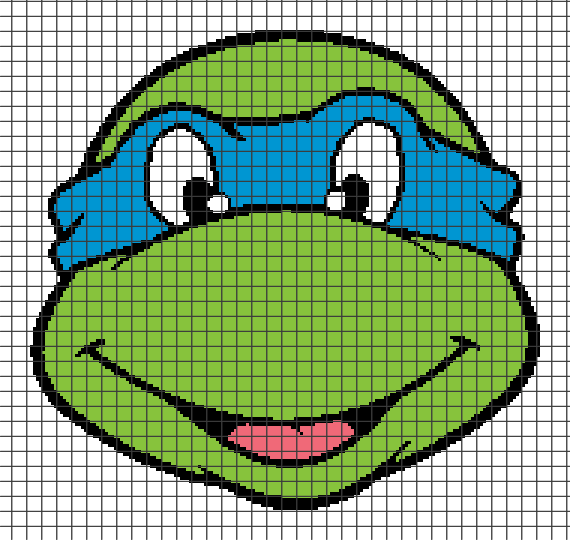 Teenage Mutant Ninja Turtles – Leonardo (Chart/Graph AND Row-by-Row Written Crochet Instructions) – 01