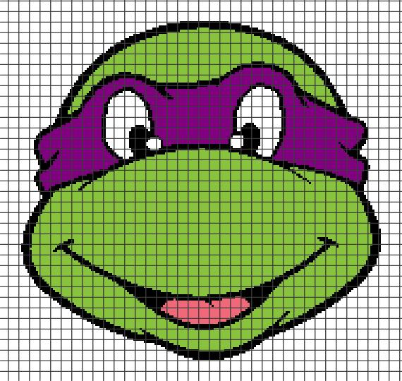 Teenage Mutant Ninja Turtles – Donatello (Chart/Graph AND Row-by-Row Written Crochet Instructions) – 04