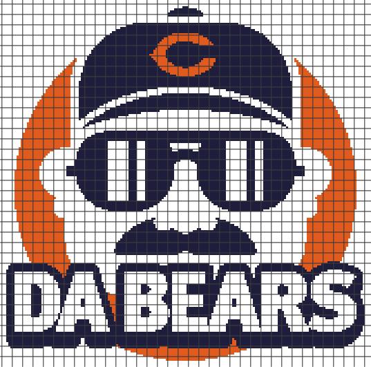 Chicago Bears – Da Bears (Chart/Graph AND Row-by-Row Written Crochet Instructions) – 02