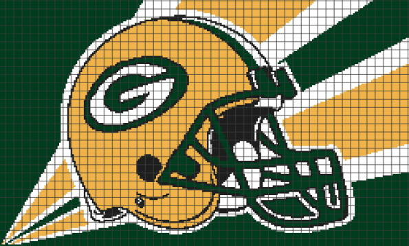 Green Bay Packers (Chart/Graph AND Row-by-Row Written Crochet Instructions) – 03