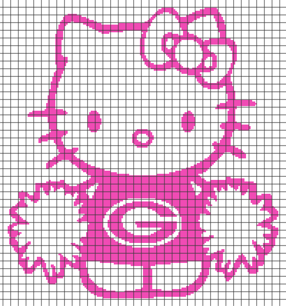 Hello Kitty Georgiagreen Bay Girl Chartgraph And Row By Row