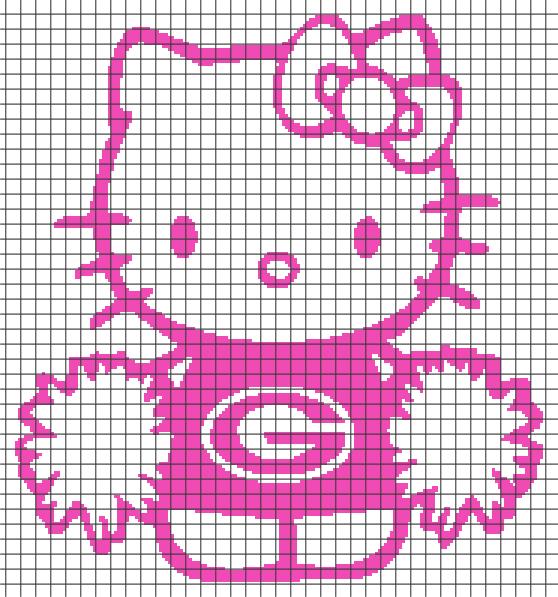 Hello Kitty Georgia/Green Bay Girl (Chart/Graph AND Row-by-Row ...