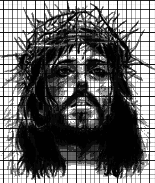 Jesus – Crown of Thorns (Chart/Graph AND Row-by-Row Written Crochet Instructions) – 01