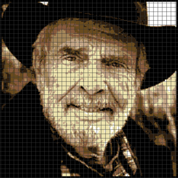 Merle Haggard (Chart/Graph AND Row-by-Row Written Crochet Instructions) – 01