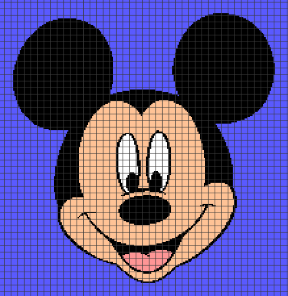 Mickey Mouse (Chart/Graph AND Row-by-Row Written Crochet Instructions) – 03