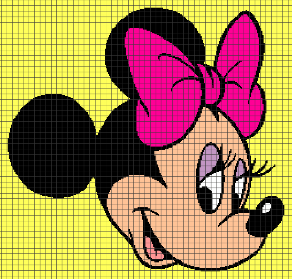 Minnie Mouse (Chart/Graph AND Row-by-Row Written Crochet Instructions) – 01