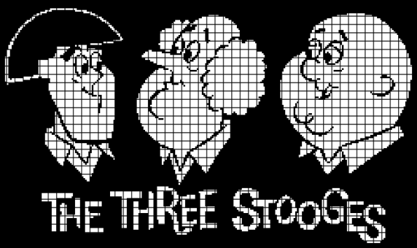 The Three Stooges (Chart/Graph AND Row-by-Row Written Crochet Instructions) – 02