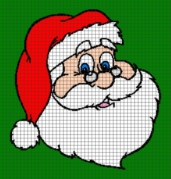 Santa Claus (Chart/Graph AND Row-by-Row Written Crochet Instructions) – 02