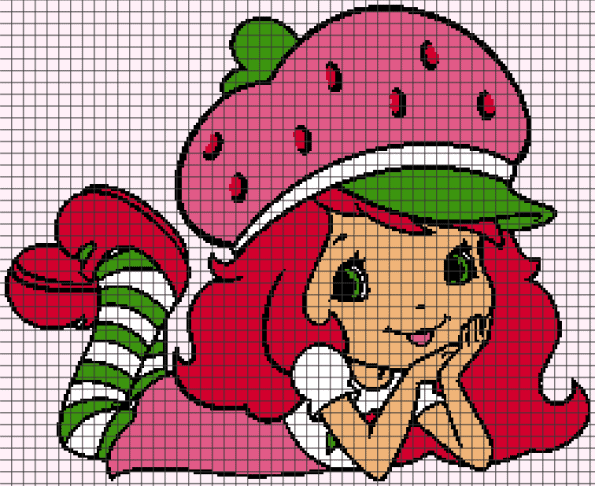 Strawberry Shortcake (Chart/Graph AND Row-by-Row Written Crochet Instructions) – 02