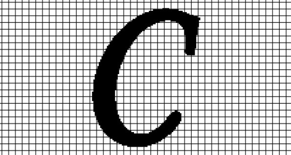 C – Monotype Corsiva (Chart/Graph AND Row-by-Row Written Crochet Instructions)