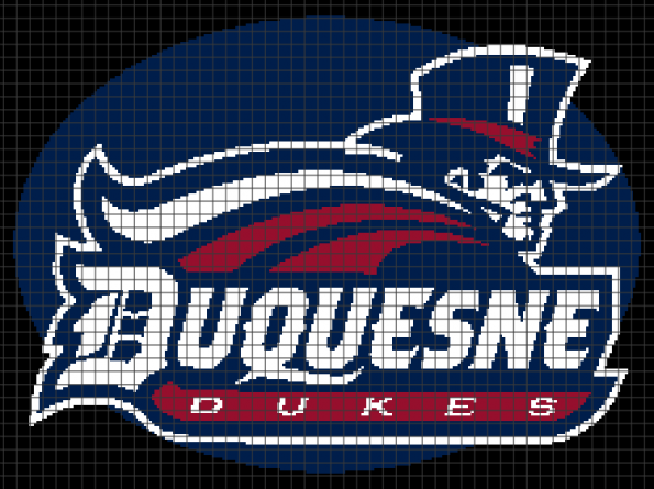 Duquesne Dukes (Chart/Graph AND Row-by-Row Written Crochet Instructions) – 02